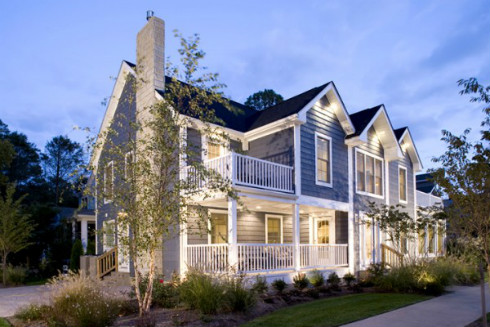 Exterior House Paint Colors - Blue Example