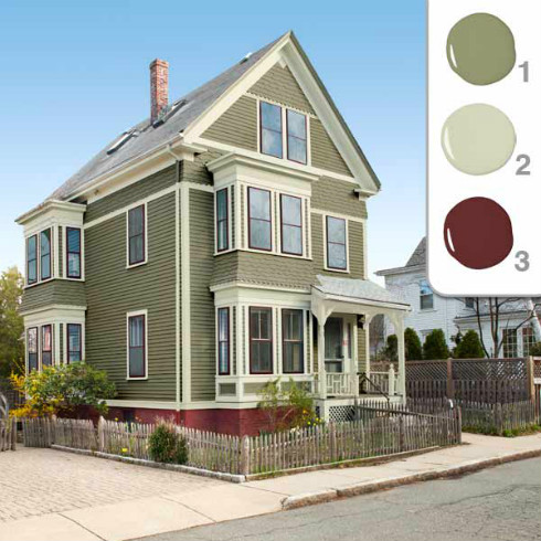 Paint color schemes interior paint color schemes house - Benjamin moore exterior color combinations ...