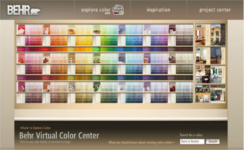Behr Interior Paint Colors - Color Center