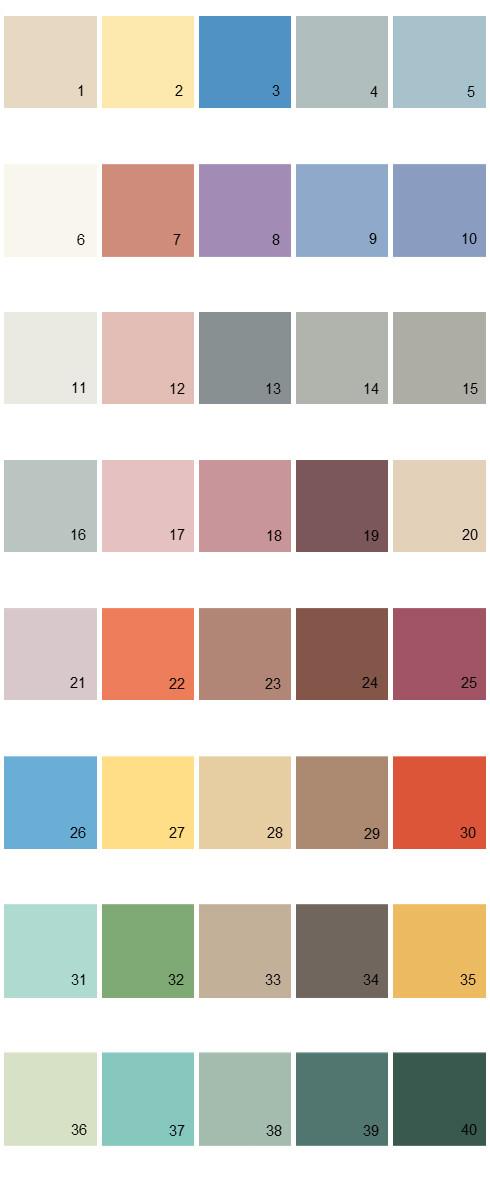 Behr House Paint Colors - Palette 01