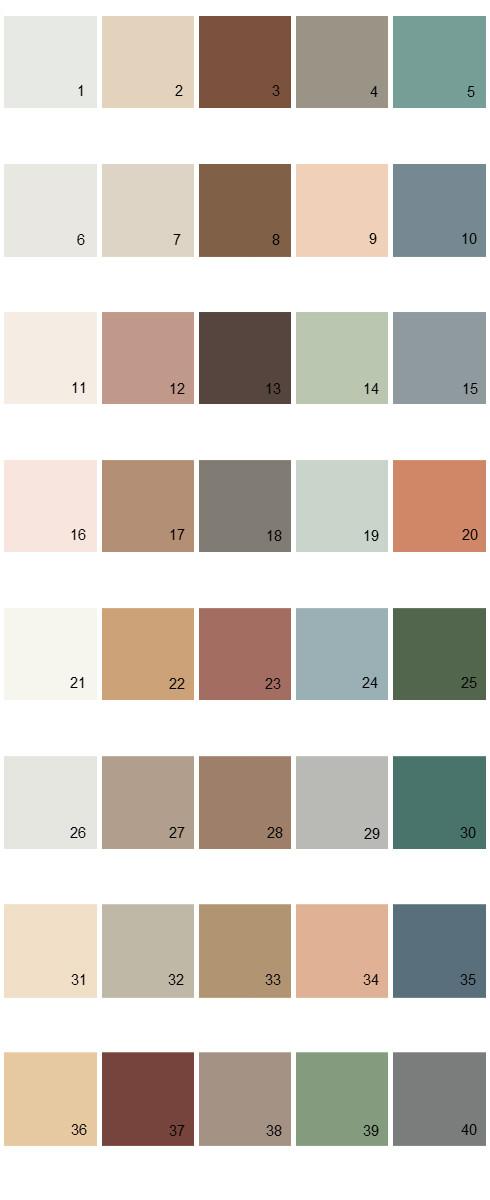 Behr House Paint Colors - Palette 03