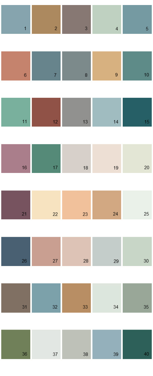 Behr House Paint Colors - Palette 06