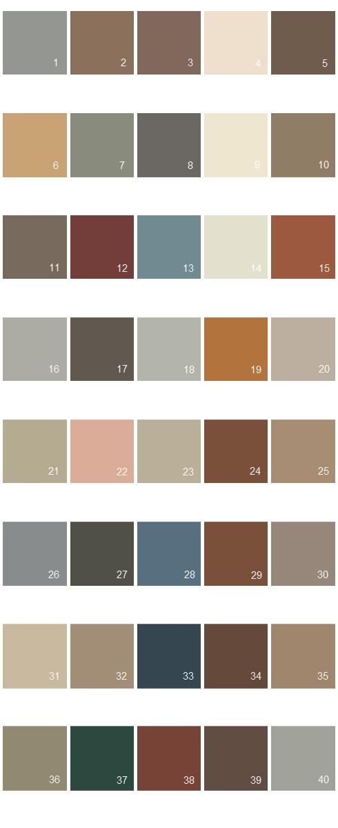 Behr House Paint Colors - Palette 11