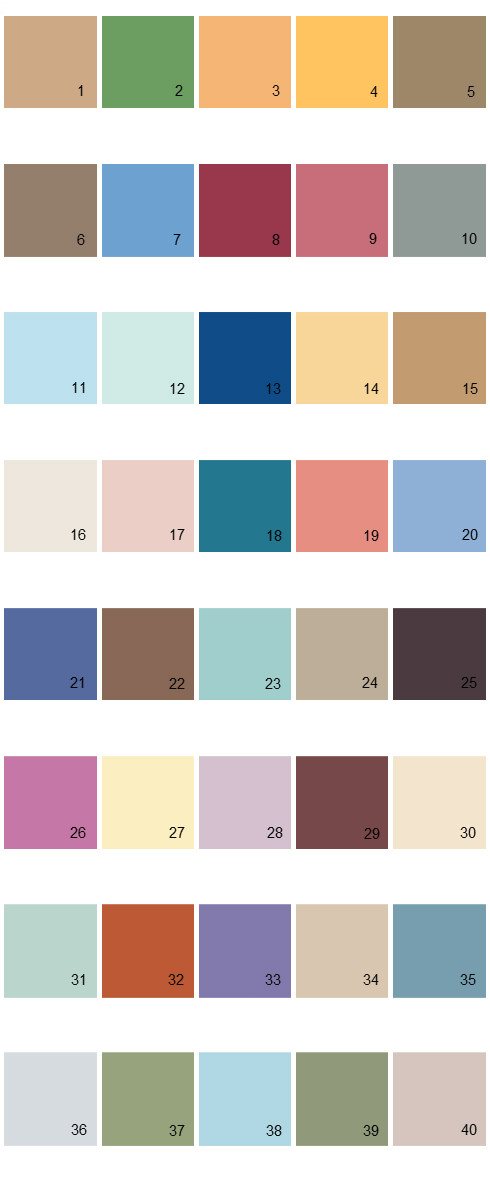 Behr House Paint Colors - Palette 12