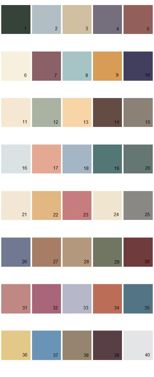 100 Behr Paint Colors Palette Behr Paint Colors