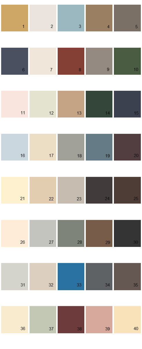 Behr House Paint Colors - Palette 15