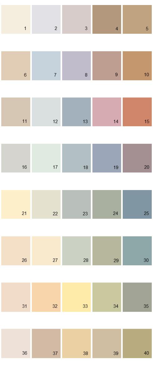 Behr House Paint Colors - Palette 17