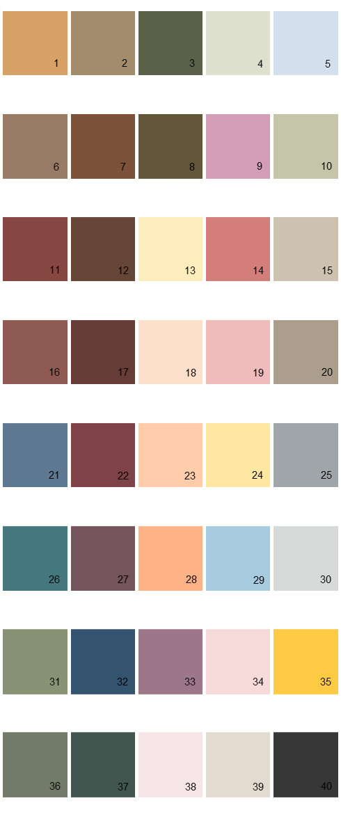 Behr House Paint Colors - Palette 18