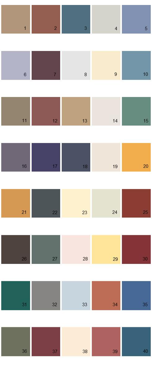 Behr House Paint Colors - Palette 22