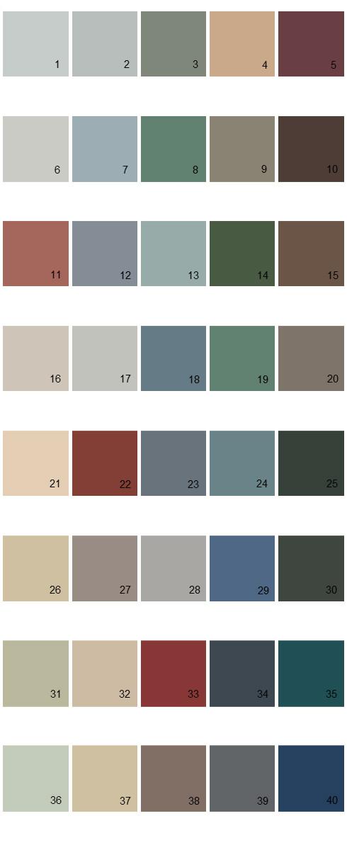 Behr House Paint Colors - Palette 24