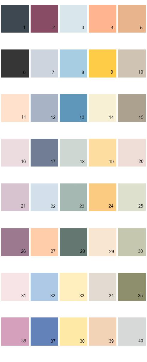 Behr House Paint Colors - Palette 25