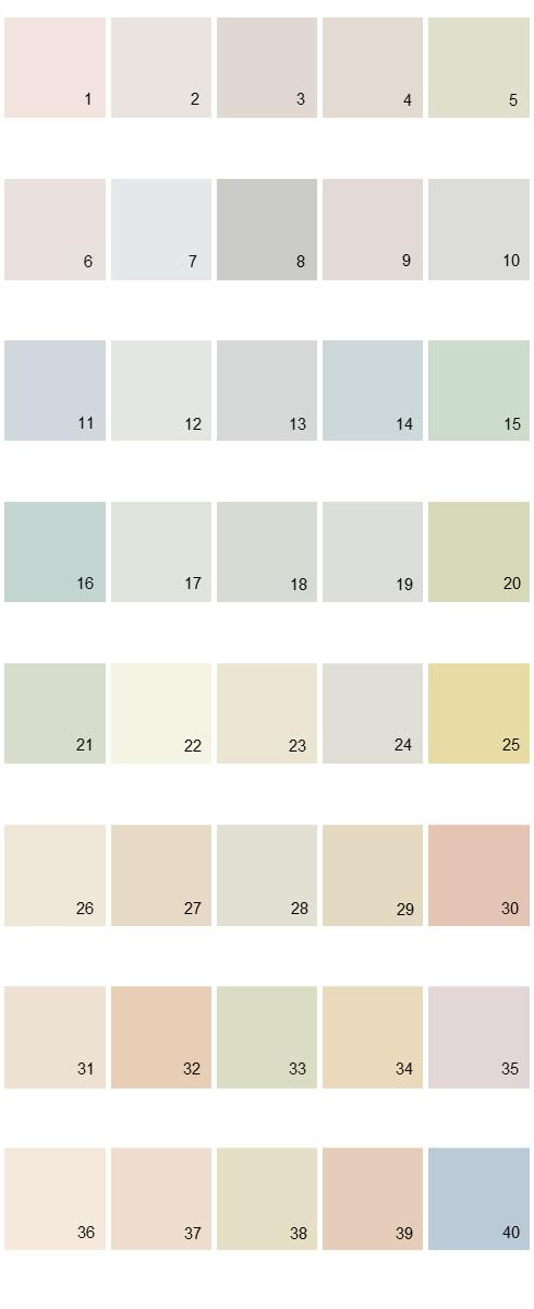 Behr House Paint Colors - Palette 28