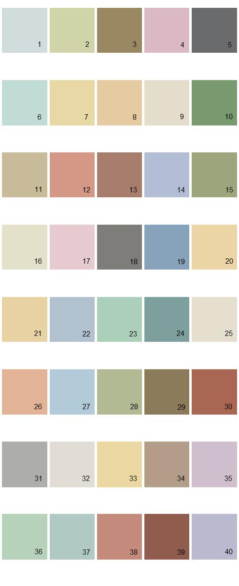 Behr House Paint Colors - Palette 29