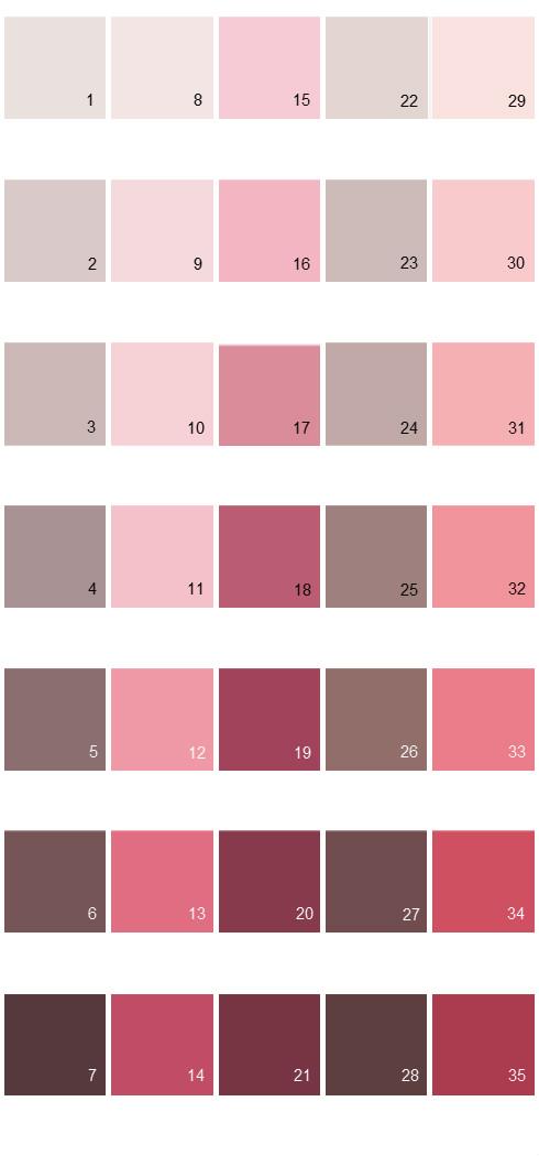 Behr Paint Colors - Colorsmart Palette 02