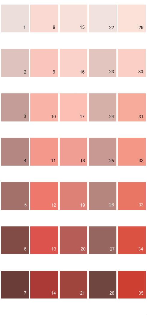 Behr Paint Colors - Colorsmart Palette 05