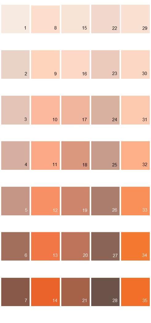 Behr Paint Colors - Colorsmart Palette 08