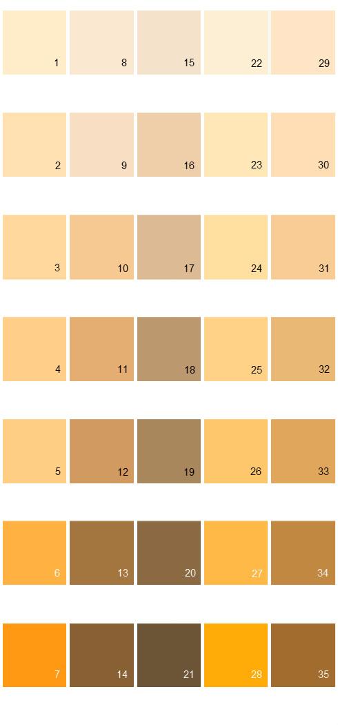 Behr Paint Colors - Colorsmart Palette 13