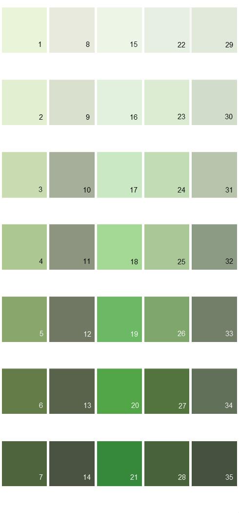 Behr Paint Colors - Colorsmart Palette 21