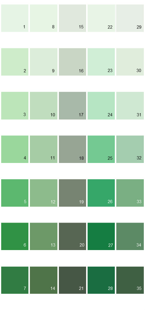 Behr Paint Colors - Colorsmart Palette 22