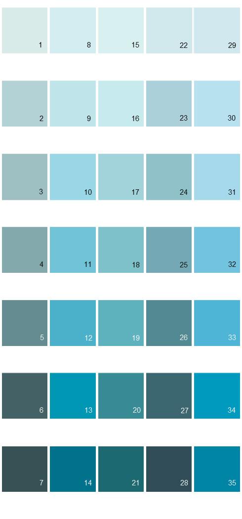 Behr Paint Colors - Colorsmart Palette 26