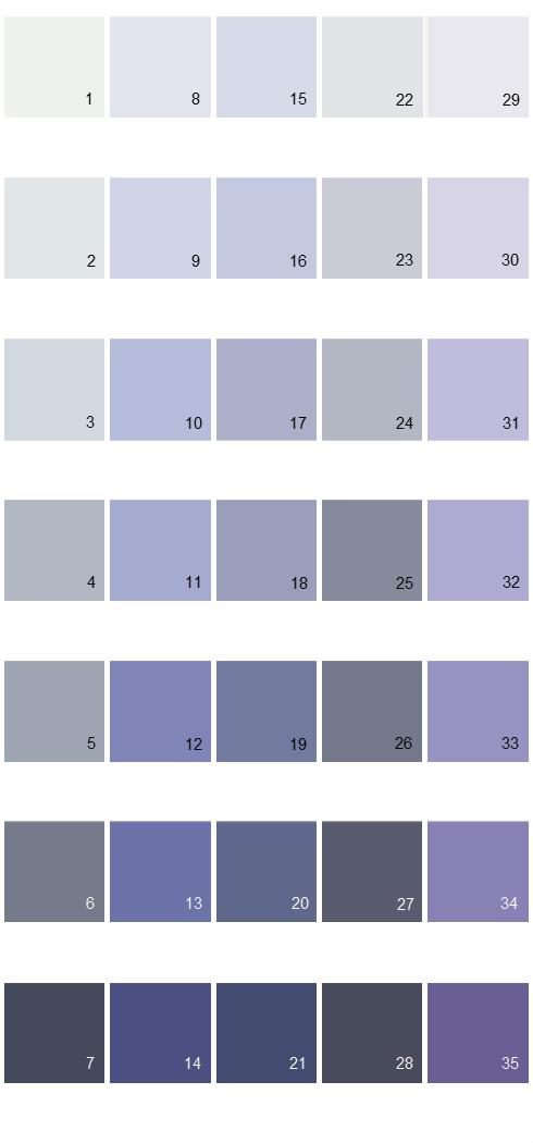 Behr Paint Colors - Colorsmart Palette 32