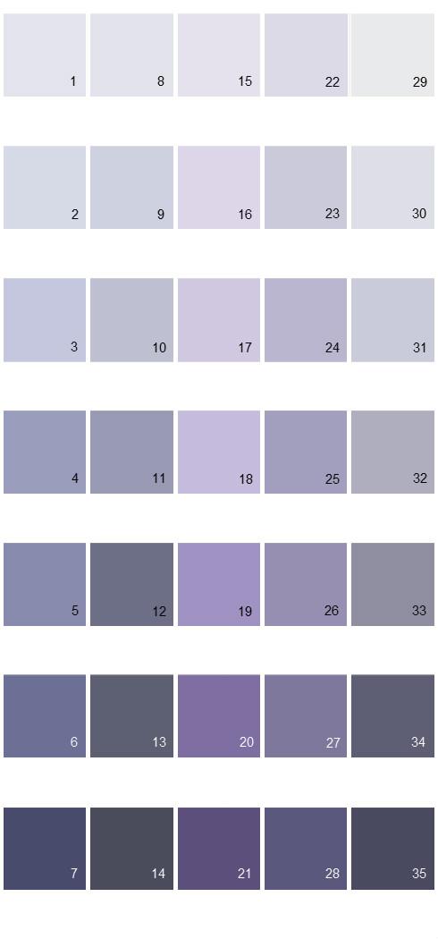 Behr Paint Colors - Colorsmart Palette 33
