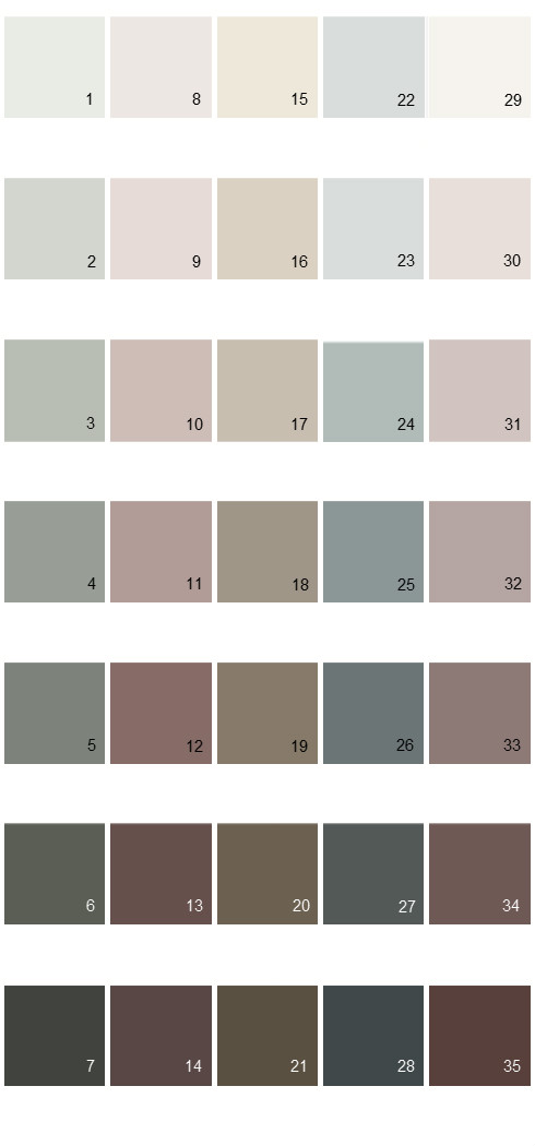 Behr Paint Colors - Colorsmart Palette 38