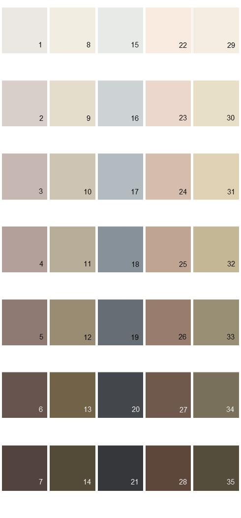 Behr Paint Colors - Colorsmart Palette 40
