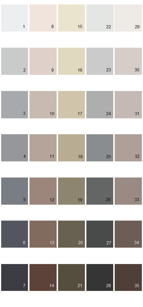 Behr Paint Colors - Colorsmart Palette 41