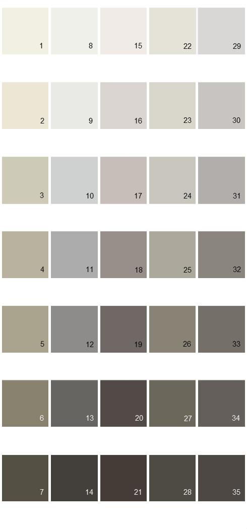 Behr Paint Colors - Colorsmart Palette 42