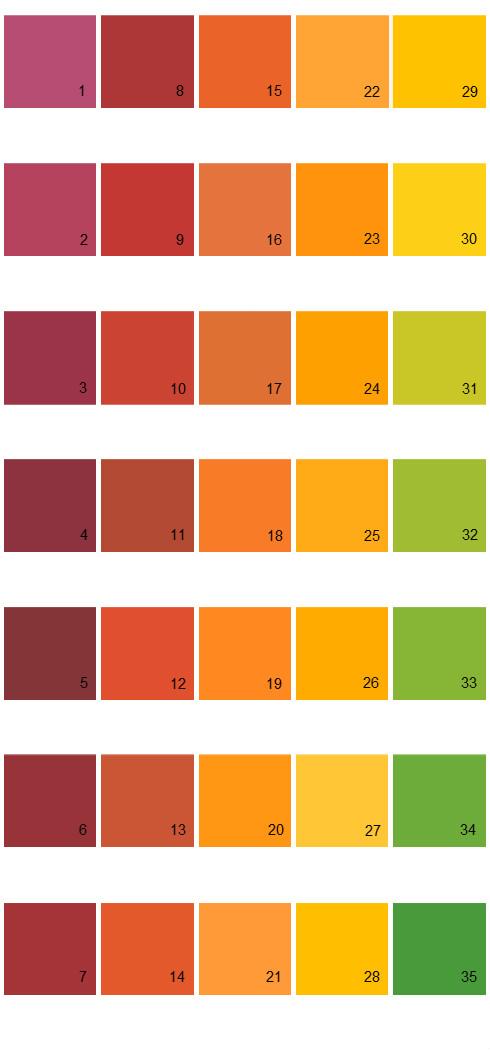 Behr Paint Colors - Colorsmart Palette 43