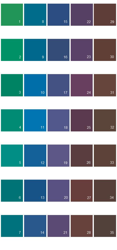 Behr Paint Colors - Colorsmart Palette 44