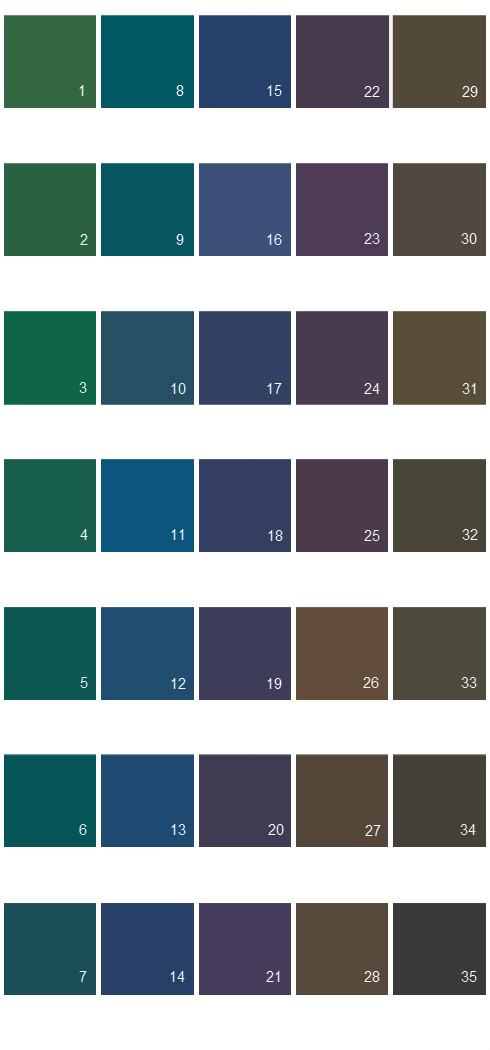 Behr Paint Colors - Colorsmart Palette 46