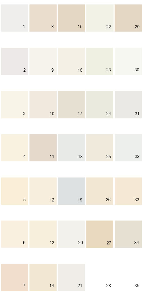 Behr paint colors colorsmart palette 48 house paint colors for Natural paint color palette