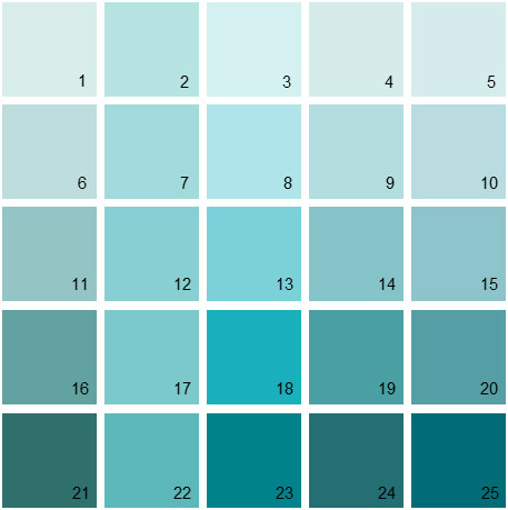 Benjamin Moore Blue House Paint Colors - Palette 03