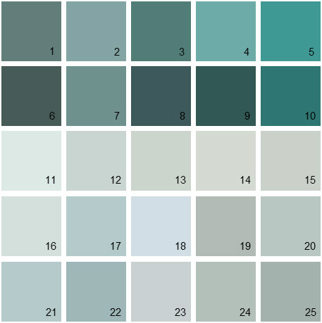 Benjamin Moore Blue House Paint Colors - Palette 06