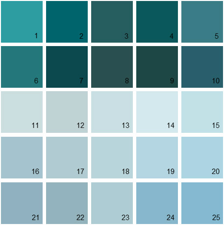 Benjamin Moore Blue House Paint Colors - Palette 08