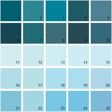 Benjamin Moore Blue House Paint Colors - Palette 09