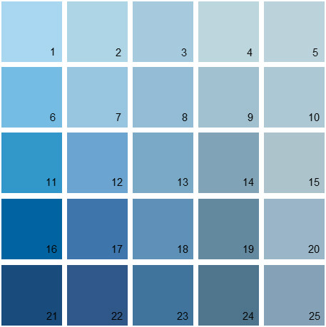 Benjamin Moore Blue House Paint Colors Palette 16