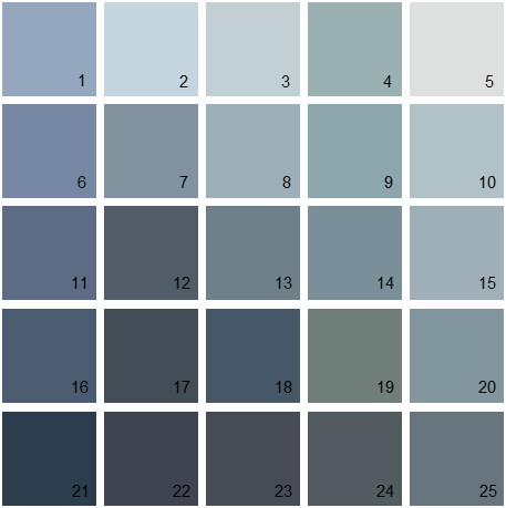 Benjamin moore paint colors blue palette 18 house for Blue gray paint palette
