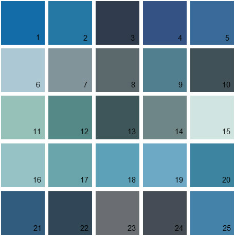 Benjamin Moore Blue House Paint Colors Palette 20