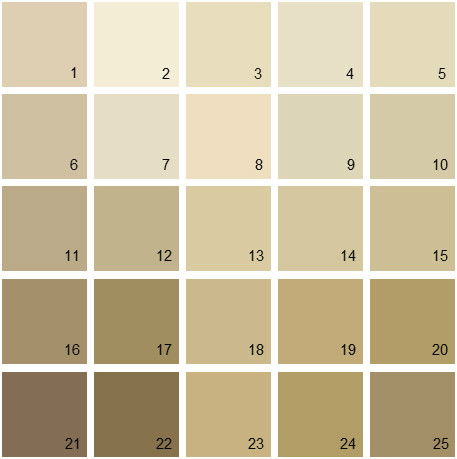 Benjamin Moore Brown House Paint Colors - Palette 12