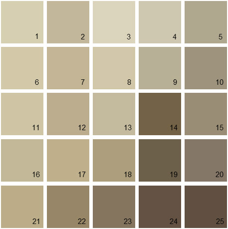 Best Benjamin Moore Paint Colors - Brown Palette 13 | House Paint Colors GX07