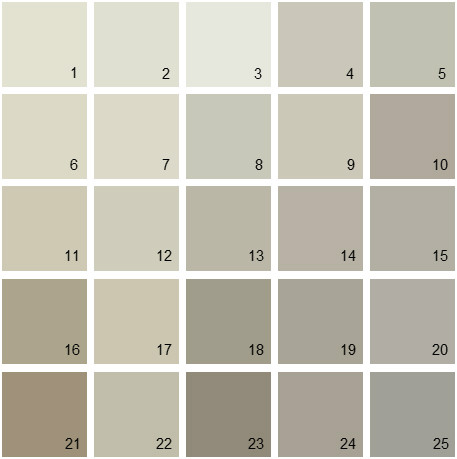 Benjamin Moore Gray House Paint Colors - Palette 02
