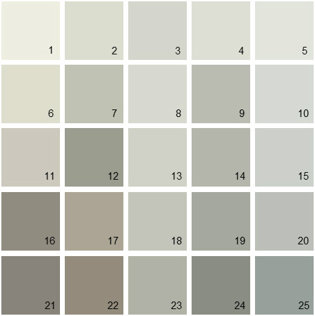 Benjamin Moore Gray House Paint Colors Palette 03