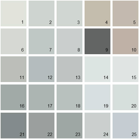 Benjamin Moore Gray House Paint Colors - Palette 04