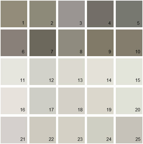 Benjamin Moore Gray House Paint Colors - Palette 06