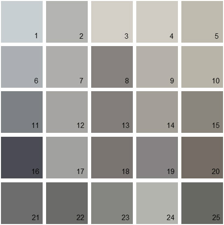 Gray Colors Glamorous Benjamin Moore Paint Colors  Gray Palette 09  House Paint Colors Design Decoration