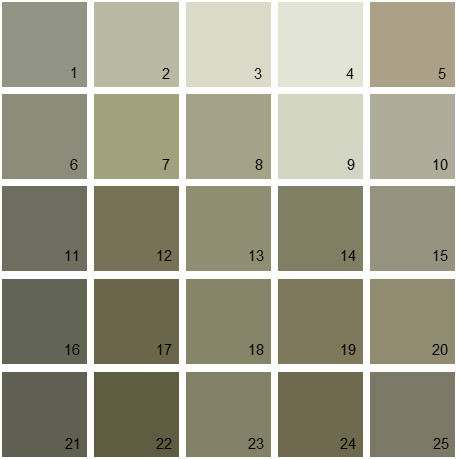 benjamin moore paint colors - green palette 01 | house paint colors