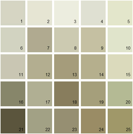 Benjamin Moore Green House Paint Colors - Palette 02